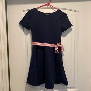 Ralph Lauren Girls Navy dress size L